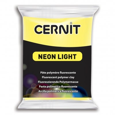 Cernit Neon Light, 56gr - Geel 700